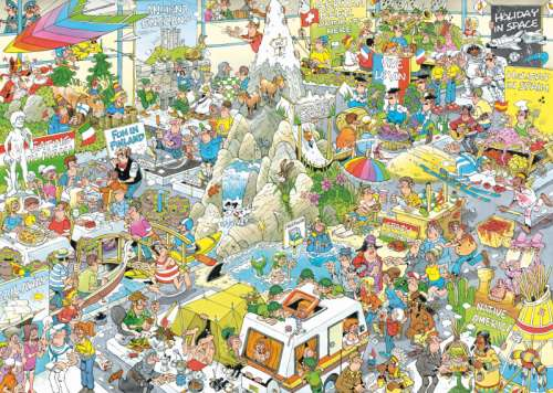 Holiday Fair (JUM19051), a 1000 piece jigsaw puzzle by Jumbo. Click to view larger image.