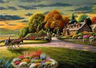 Lakeside Cottage (A Safe Haven) (HOL098521), a 1000 piece jigsaw puzzle by Holdson and artist Patrick J Costello. Click to view this jigsaw puzzle.