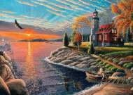 Lighthouse Sunset (A Safe Haven) (HOL098538), a 1000 piece jigsaw puzzle by Holdson and artist Patrick J Costello. Click to view this jigsaw puzzle.