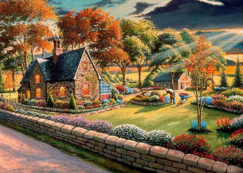 Gardener's Glory (A Safe Haven) (HOL098507), a 1000 piece jigsaw puzzle by Holdson. Click to view larger image.