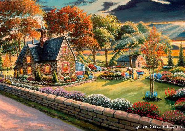 Gardener's Glory (A Safe Haven) (HOL098507), a 1000 piece jigsaw puzzle by Holdson.