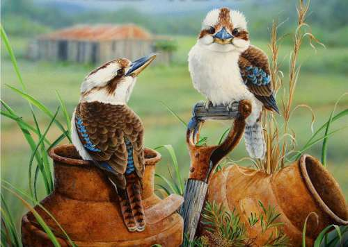 Countrysiders (Wild Wings) (HOL098613), a 1000 piece jigsaw puzzle by Holdson. Click to view larger image.