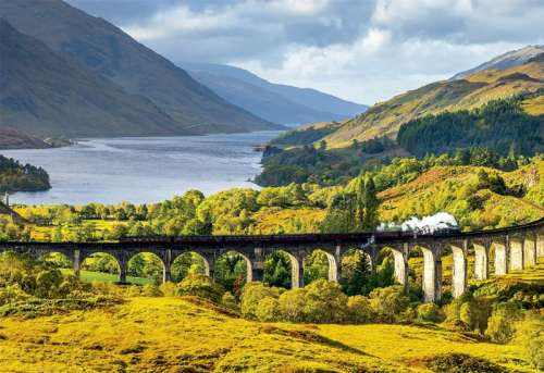 Glenfinnan Viaduct, Scotland (EDU16749), a 1000 piece jigsaw puzzle by Educa. Click to view larger image.
