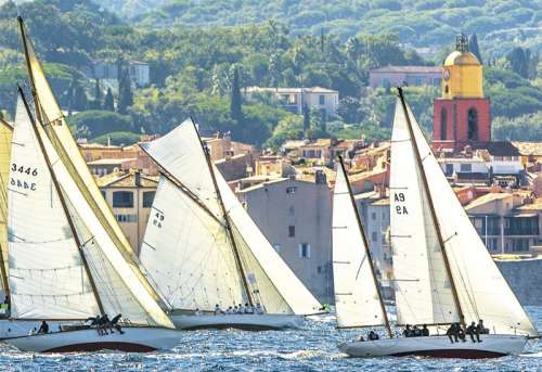 Sailing at St Tropez (EDU16755), a 1000 piece jigsaw puzzle by Educa. Click to view larger image.