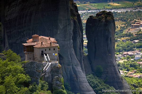 Meteora, Greece (CAA107801), a 1000 piece jigsaw puzzle by Crown and Andrews.