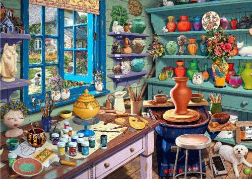 Pottery Shed (Large Pieces) (HOL098637), a 500 piece jigsaw puzzle by Holdson. Click to view larger image.