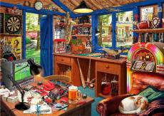 Man Cave (Large Pieces) (HOL098620), a 500 piece jigsaw puzzle by Holdson and artist Steve Read. Click to view this jigsaw puzzle.