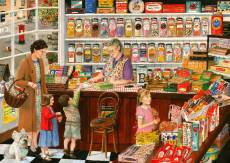 The Sweet Shop (Times Past) (HOL098477), a 1000 piece Holdson jigsaw puzzle.