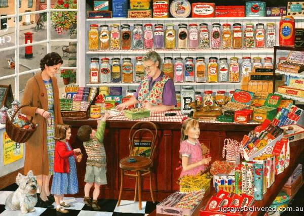 The Sweet Shop (Times Past) (HOL098477), a 1000 piece jigsaw puzzle by Holdson.