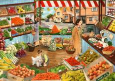 The Green Grocer (Times Past) (HOL098460), a 1000 piece Holdson jigsaw puzzle.
