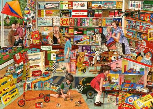 The Toy Shop (Times Past) (HOL098484), a 1000 piece jigsaw puzzle by Holdson. Click to view larger image.