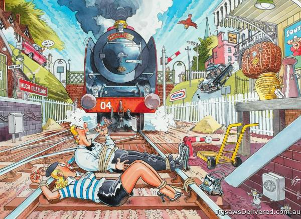 The Wasgij Express (Mystery Wasgij 1) (Large Pieces) (HOL772933), a 500 piece jigsaw puzzle by Holdson.