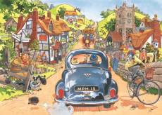 Sunday Drivers (Original Wasgij 1) (Large Pieces) (HOL772926), a 500 piece Holdson jigsaw puzzle.