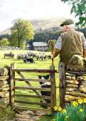Bringing in The Flock (Country Life) (HOL099009), a 1000 piece Holdson jigsaw puzzle.