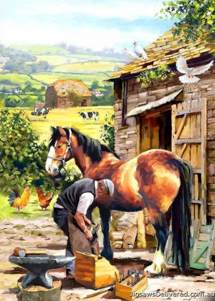 The Farrier (Country Life) (HOL099023), a 1000 piece jigsaw puzzle by Holdson.