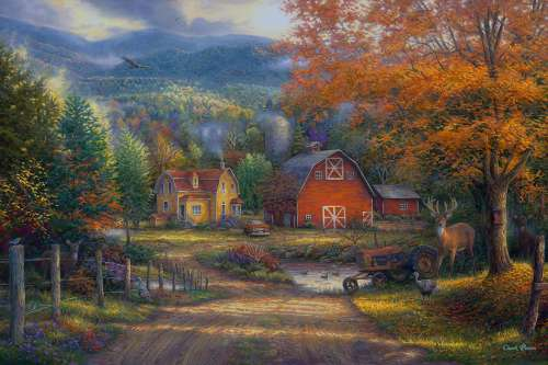 Country Roads Take Me Home (CAA3005), a 1000 piece jigsaw puzzle by Crown and Andrews. Click to view larger image.