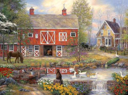 Reflections on Country Living (CAA3006), a 1000 piece jigsaw puzzle by Crown and Andrews. Click to view larger image.
