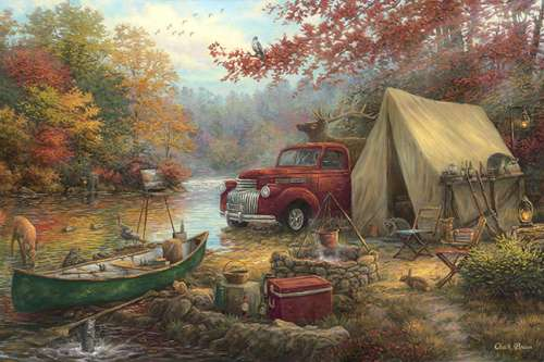 Share the Outdoors (CAA3007), a 1000 piece jigsaw puzzle by Crown and Andrews. Click to view larger image.