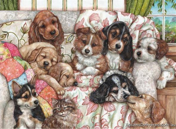 Puppies (ANA3162), a 1000 piece jigsaw puzzle by Anatolian.