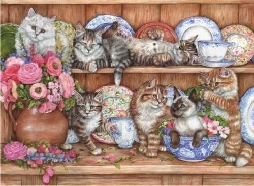 Kittens (ANA3158), a 1000 piece jigsaw puzzle by Anatolian. Click to view larger image.