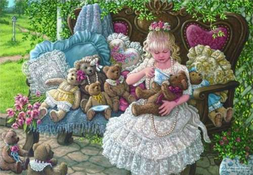 Holly's Bears (ANA3270), a 260 piece jigsaw puzzle by Anatolian. Click to view larger image.