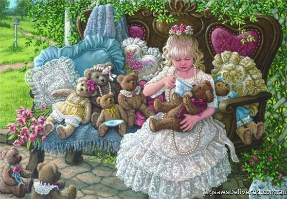 Holly's Bears (ANA3270), a 260 piece jigsaw puzzle by Anatolian.