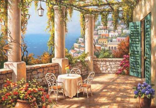 Morning Terrace (ANA3293), a 260 piece jigsaw puzzle by Anatolian. Click to view larger image.