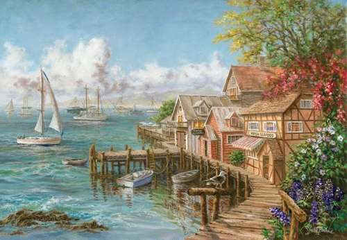 Mariner's Haven (ANA3300), a 260 piece jigsaw puzzle by Anatolian. Click to view larger image.