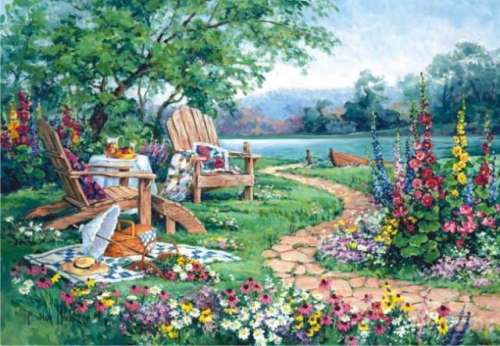 Lakeside Afternoon (ANA3302), a 260 piece jigsaw puzzle by Anatolian. Click to view larger image.