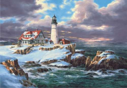 Portland Head Lighthouse (ANA3303), a 260 piece jigsaw puzzle by Anatolian. Click to view larger image.
