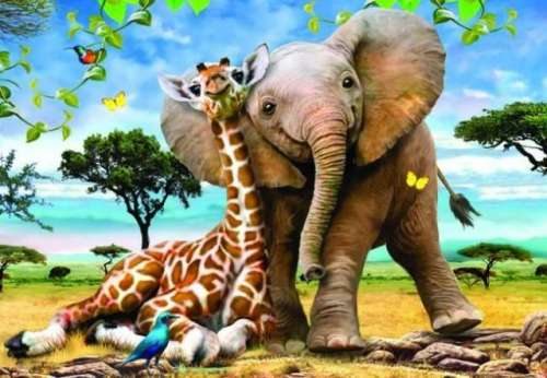 Best Pals (ANA3308), a 260 piece jigsaw puzzle by Anatolian. Click to view larger image.