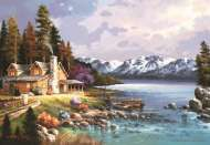 Mountain Cabin (ANA3534), a 500 piece jigsaw puzzle by Anatolian. Click to view this jigsaw puzzle.