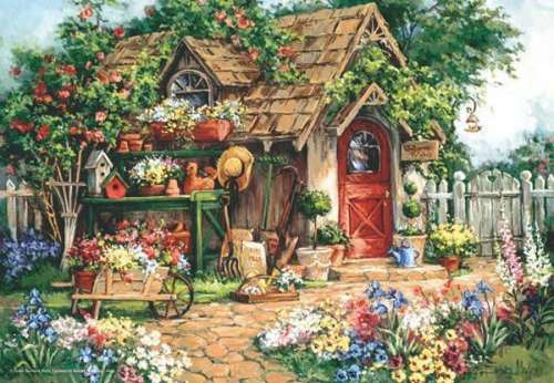 Gardener's Haven (ANA3532), a 500 piece jigsaw puzzle by Anatolian. Click to view larger image.