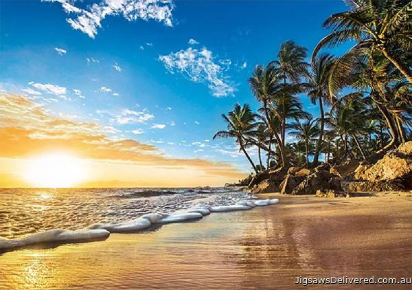 Tropical Sunrise (CLE 31681), a 1500 piece jigsaw puzzle by Clementoni.