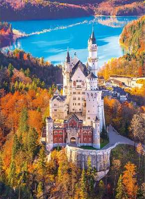 Neuschwanstein Castle (CLE 39382), a 1000 piece jigsaw puzzle by Clementoni. Click to view larger image.