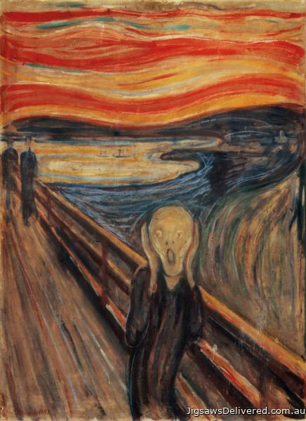 The Scream (CLE 39377), a 1000 piece jigsaw puzzle by Clementoni.