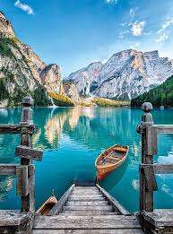 Braies Lake (CLE 35039), a 500 piece jigsaw puzzle by Clementoni. Click to view larger image.