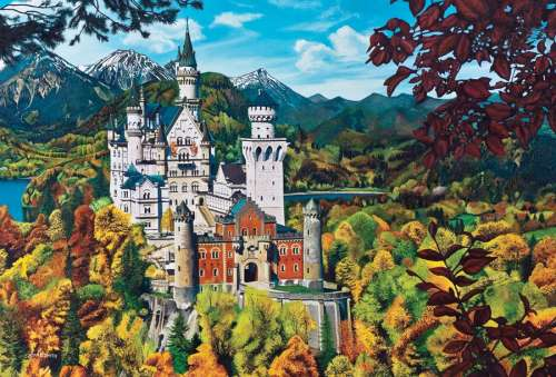 Neuschwanstein Castle (COB50707), a 2000 piece jigsaw puzzle by Cobble Hill. Click to view larger image.