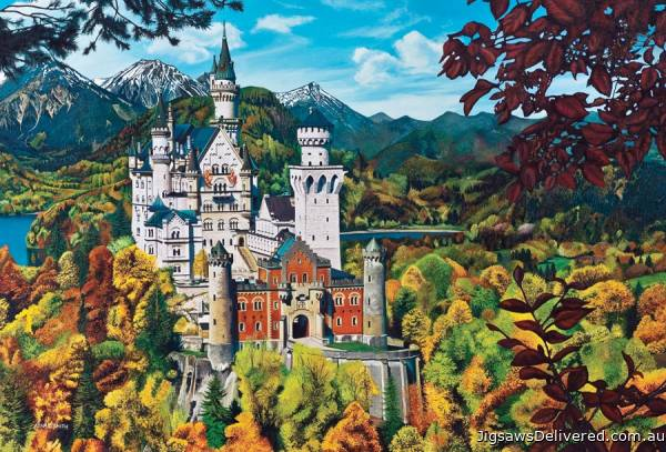 Neuschwanstein Castle (COB50707), a 2000 piece jigsaw puzzle by Cobble Hill.