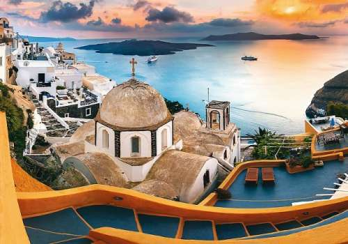 Santorini Fairytale (TRE10445), a 1000 piece jigsaw puzzle by Trefl. Click to view larger image.
