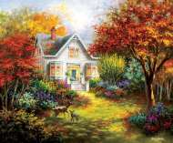 Autumn Overtures (SUN19340), a 1000 piece jigsaw puzzle by Sunsout and artist Nicky Boehme. Click to view this jigsaw puzzle.