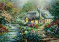 Little River Cottage (Large Pieces) (SUN19152), a 1000 piece Sunsout jigsaw puzzle.