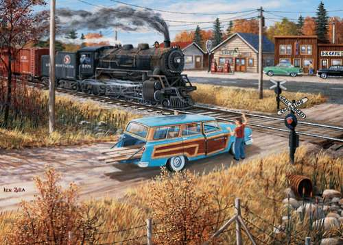 Deerwood Crossing (Junction Times) (HOL098644), a 1000 piece jigsaw puzzle by Holdson. Click to view larger image.