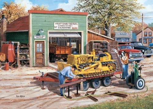 Dozer (Junction Times) (HOL098651), a 1000 piece jigsaw puzzle by Holdson. Click to view larger image.