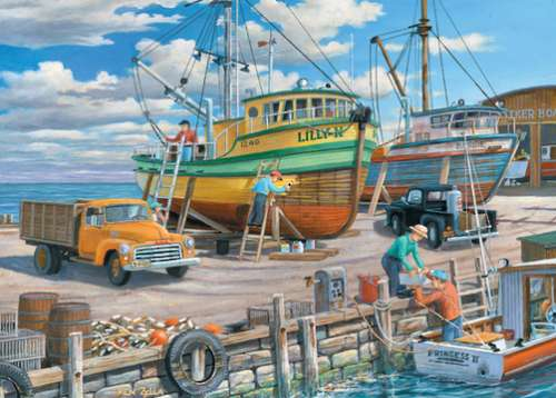Sisters of the Sea (Junction Times) (HOL098668), a 1000 piece jigsaw puzzle by Holdson. Click to view larger image.