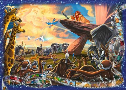 Disney The Lion King (RB19747-7), a 1000 piece jigsaw puzzle by Ravensburger. Click to view larger image.