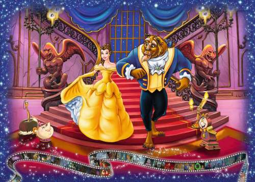 Disney Beauty and the Beast (RB19746-0), a 1000 piece jigsaw puzzle by Ravensburger. Click to view larger image.