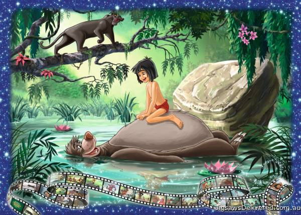 Disney The Jungle Book (RB19744-6), a 1000 piece jigsaw puzzle by Ravensburger.