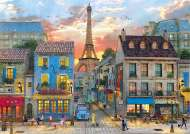Streets of Paris (CLE 31679), a 1500 piece jigsaw puzzle by Clementoni and artist Dominic Davison. Click to view this jigsaw puzzle.
