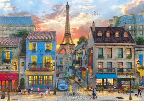 Streets of Paris (CLE 31679), a 1500 piece jigsaw puzzle by Clementoni. Click to view larger image.